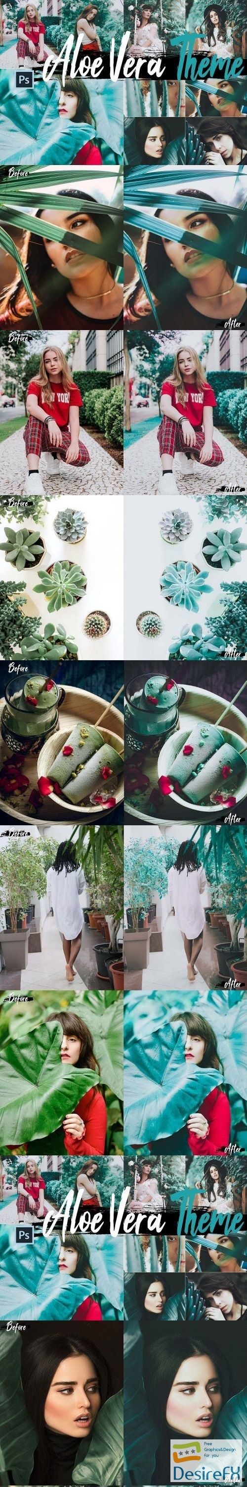 actions-atn - Neo Aloe Vera Theme Color Grading photoshop actions, ACR LUT - 272132