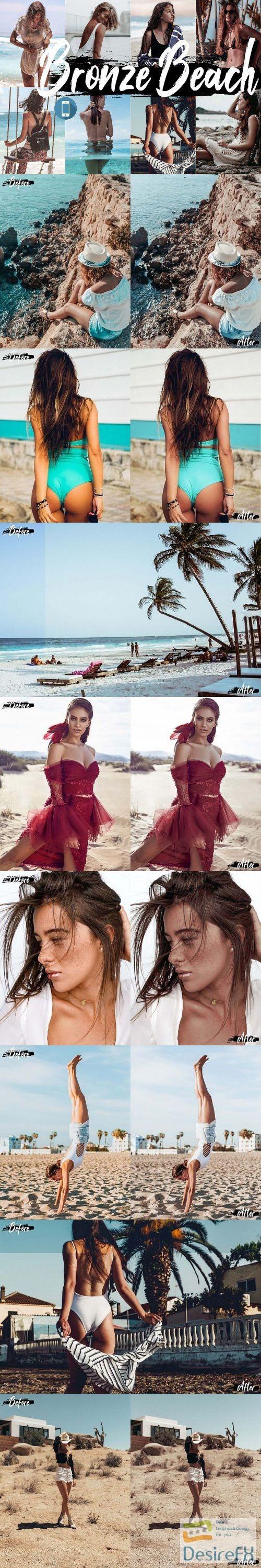 photoshop - Neo bronze Beach Theme mobile lightroom presets summer tone - 272495