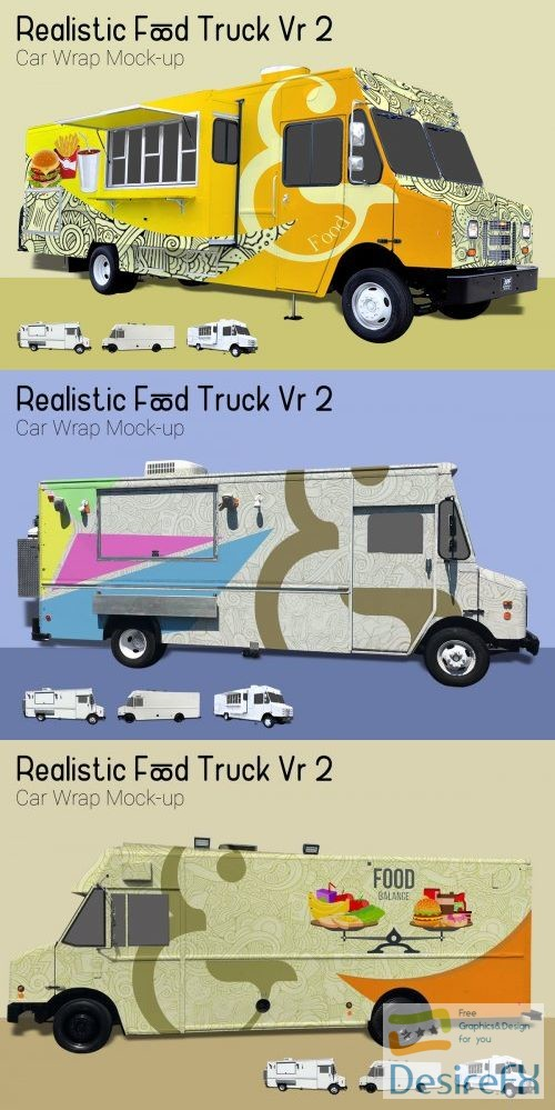 mock-up - Food Truck Mock-Up Vr2 - 3912980