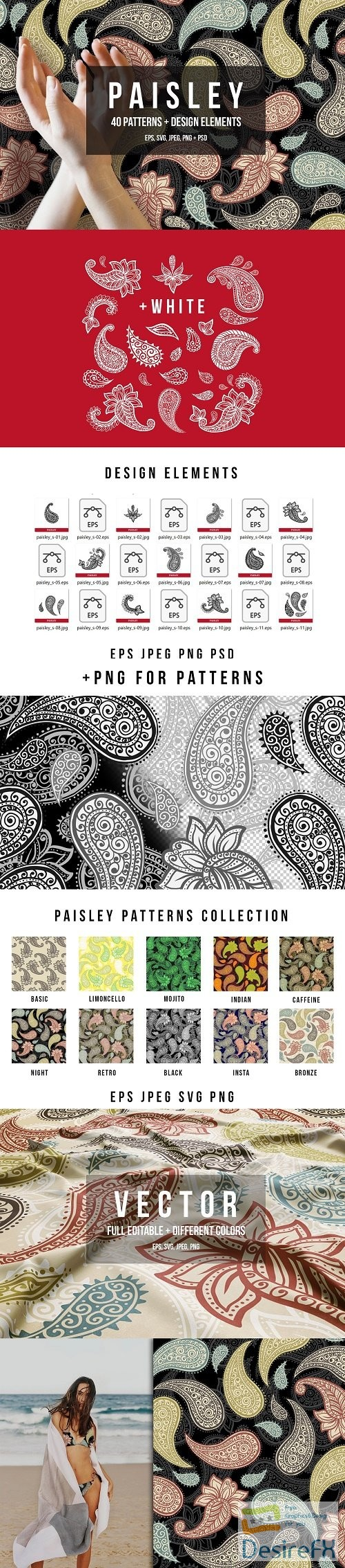 Paisley Patterns Collection - 3702274