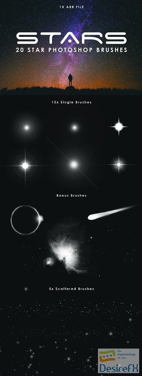 20 Star Photoshop Brushes - 3799822