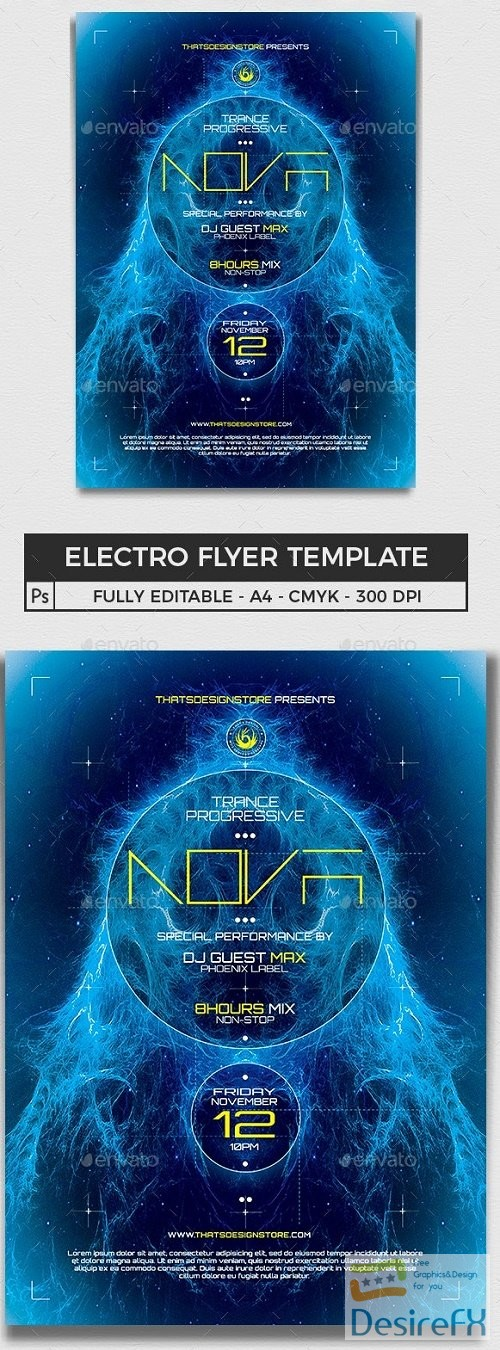 layered-psd - Electro Flyer Template V1 - 11312325 - 259261