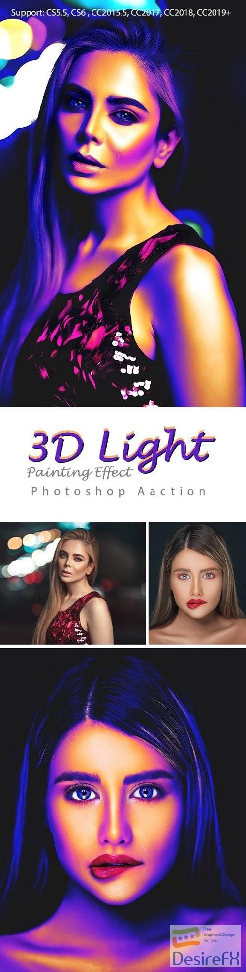 3D Light Painting Effect 23989388