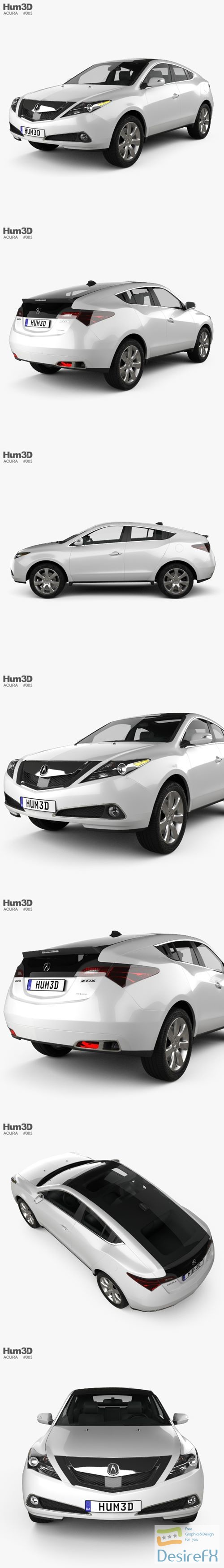 3d-models - Acura ZDX 2012 3D Model
