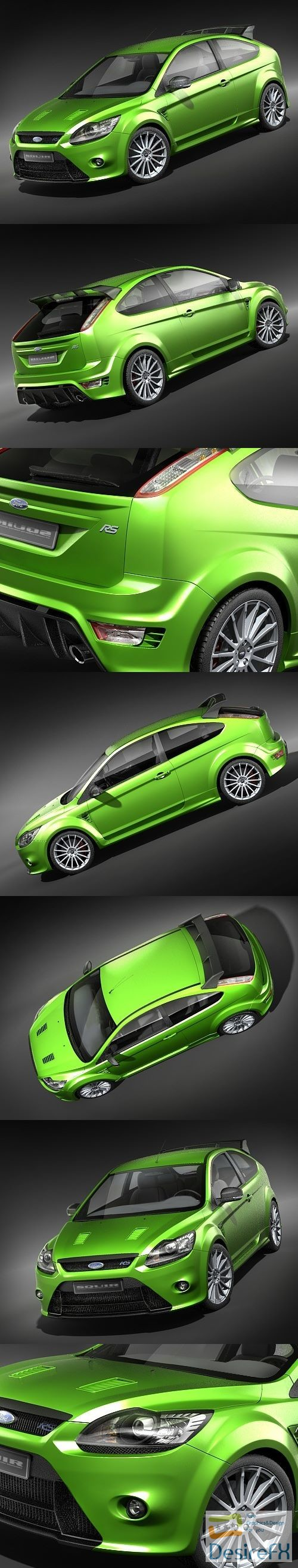 3d-models - Ford Focus RS 2009 3D Model