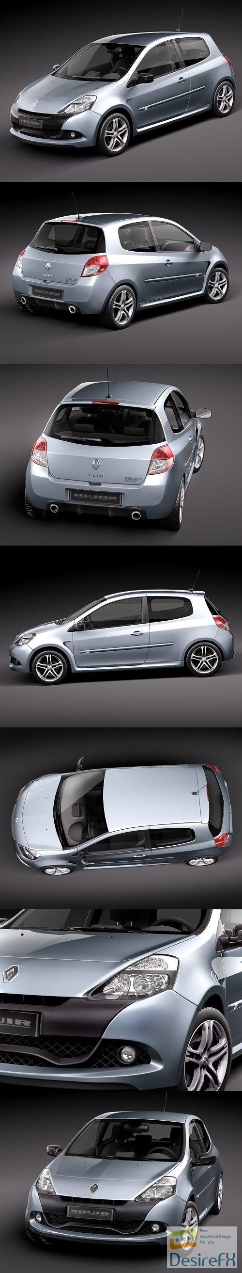 3d-models - Renault Clio RS 2010 3D Model