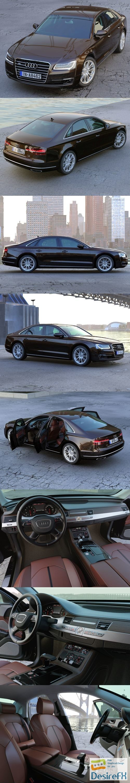 3d-models - Audi A8 2014 3D Model