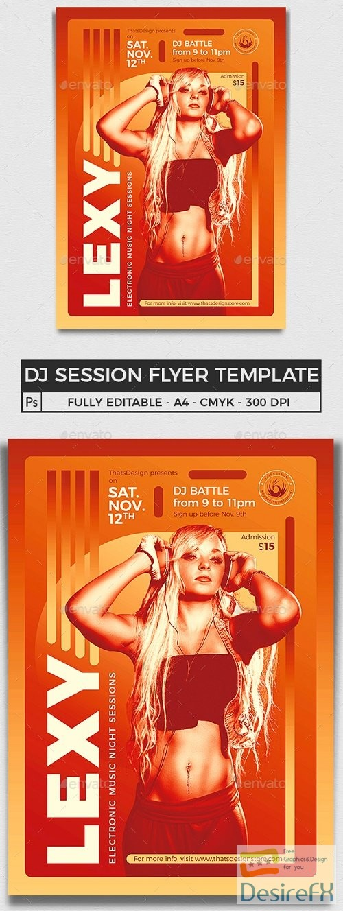 layered-psd - Session Flyer Template V8 - 24189388 - 3956501