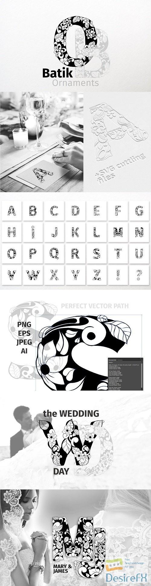 stock-vectors - Batik Ornaments Alphabet - 3794280