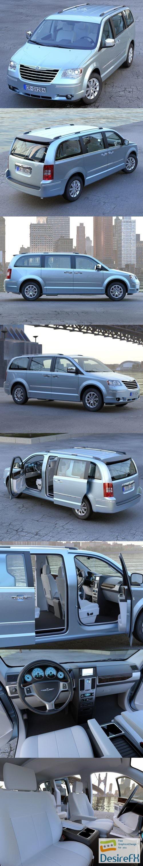 3d-models - Chrysler Grand Voyager 2010 3D Model