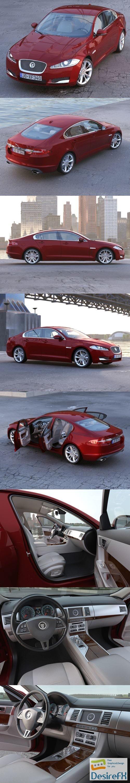 3d-models - Jaguar XF 2013 3D Model
