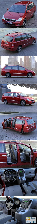 3d-models - Kia Carnival 2011 3D Model