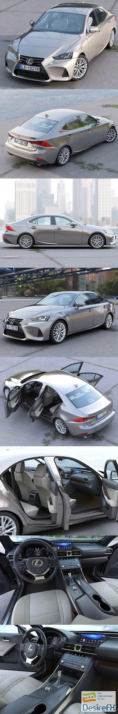 3d-models - Lexus IS 2018 3D Model