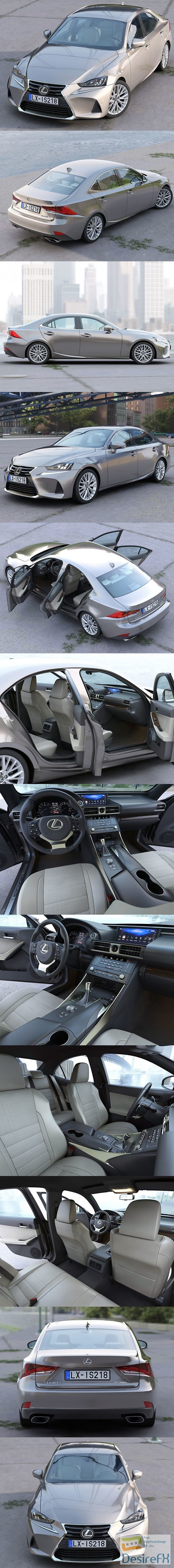 Lexus IS 2018 3D Model