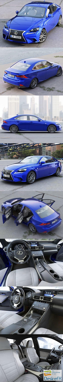 3d-models - Lexus IS F-Sport 2016 3D Model