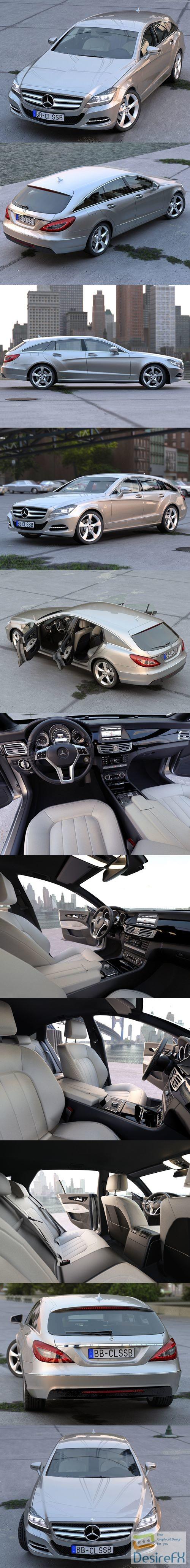 3d-models - Mercedes Benz CLS Shooting Brake 2013 3D Model