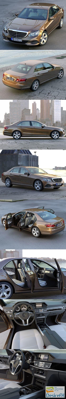 3d-models - Mercedes Benz E class 2014 3D Model