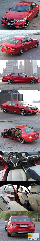 3d-models - Mercedes Benz E Class Avantgarde 2014 3D Model