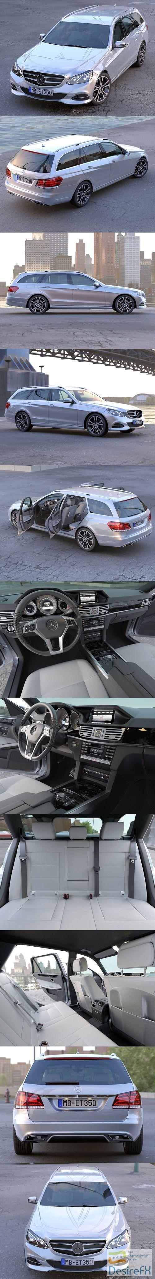 Mercedes Benz E class T model 2014 3D Model