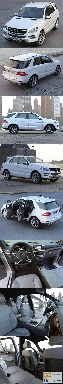 3d-models - Mercedes Benz ML Class 2013 3D Model