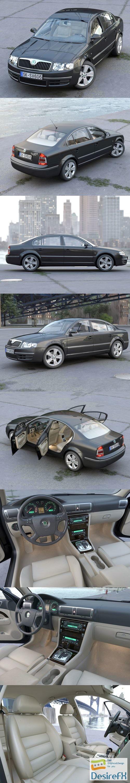 3d-models - Skoda Superb 2006 3D Model