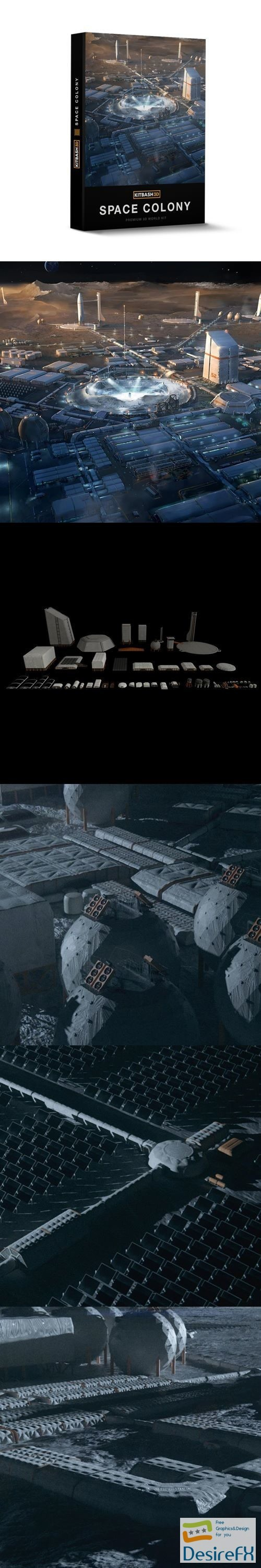 3d-models - Space Colony by Kitbash3d