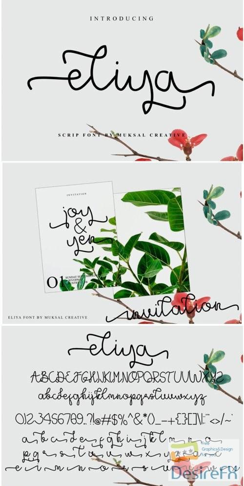 fonts - Eliya Font