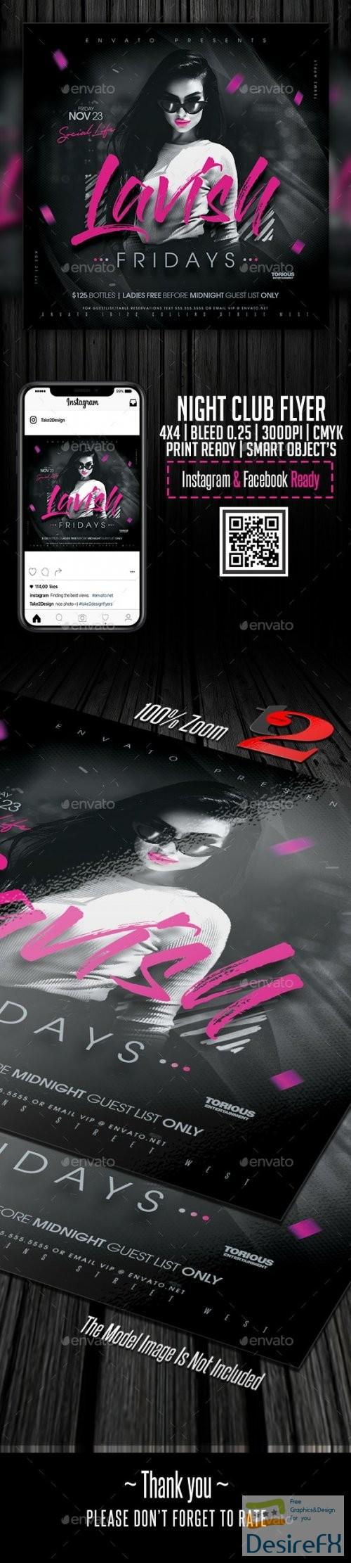 layered-psd - Night Club Flyer Template 24274527
