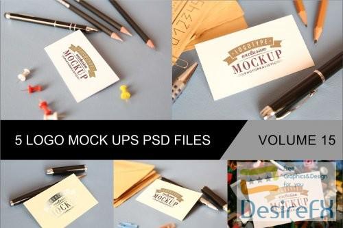 mock-up - Photo Realistic Mock-ups Set of 5 V15 - 4046133