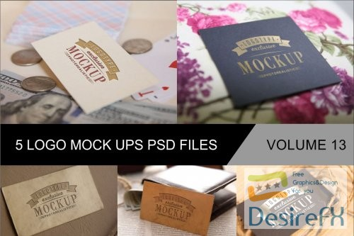 mock-up - Photo Realistic Mock-ups Set of 5 V13 - 4043748 - 4042400