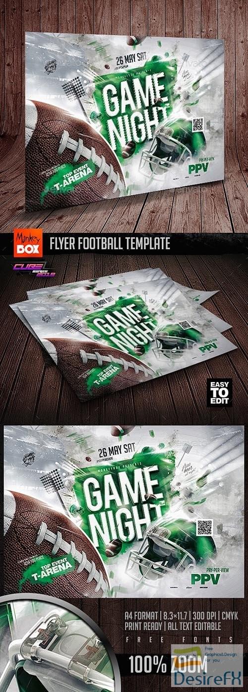 layered-psd - Flyer Football Template 24298984