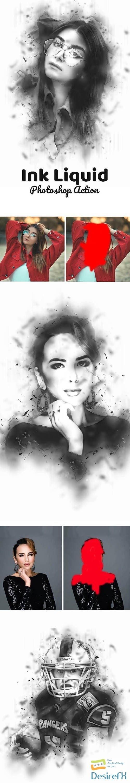 Ink Liquid Effect Photoshop Action 24233027