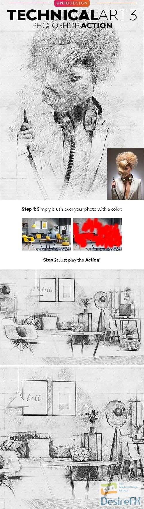 actions-atn - TechnicalArt 3 Photoshop Action 24222422