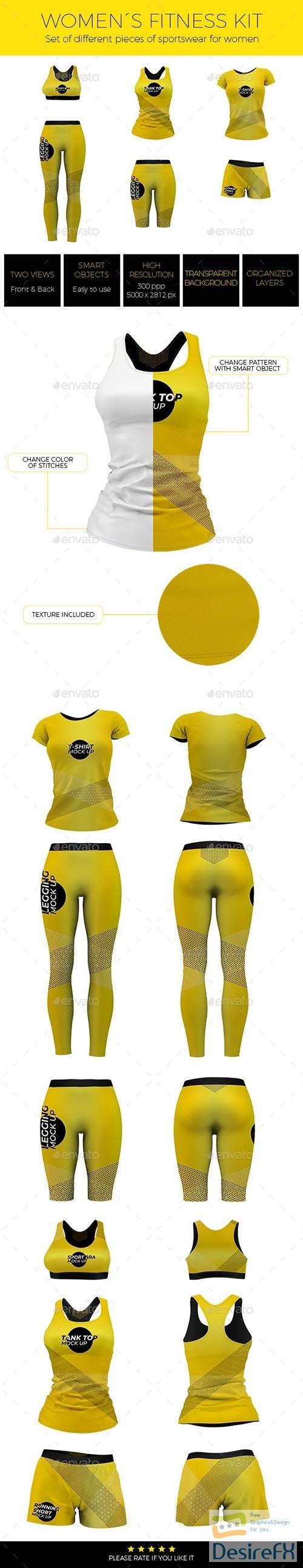 mock-up - Women Fitness Kit Mock-up 24295113