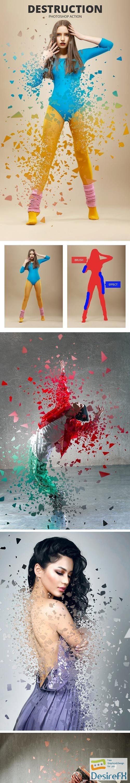 actions-atn - Destruction Photoshop Action 24273684