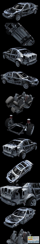 Car Frame 02 3D Model