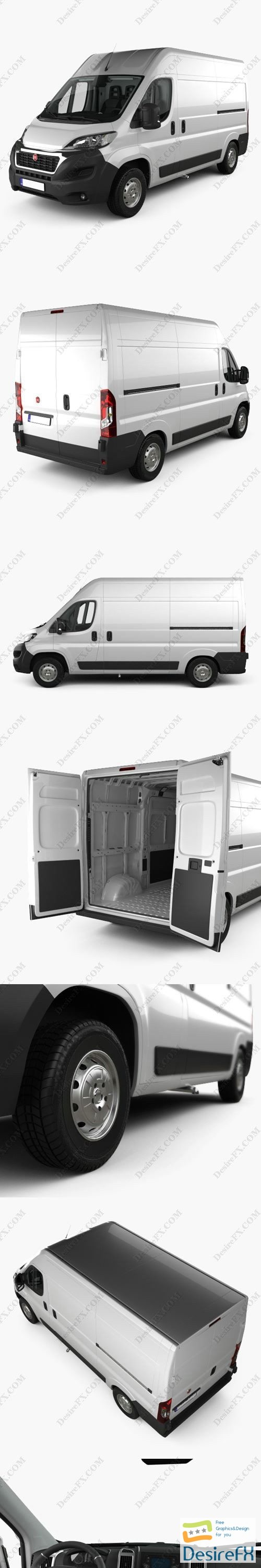 3d-models - Fiat Ducato Panel Van L2H2 with HQ interior 2014 3D Model
