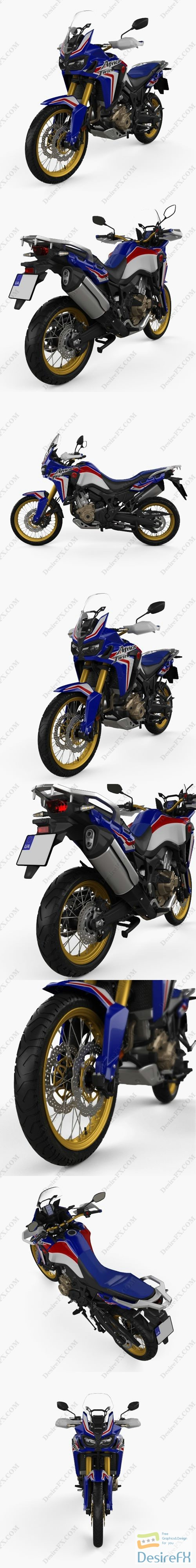 3d-models - Honda CRF 1000L Africa Twin ABS 2019 3D Model