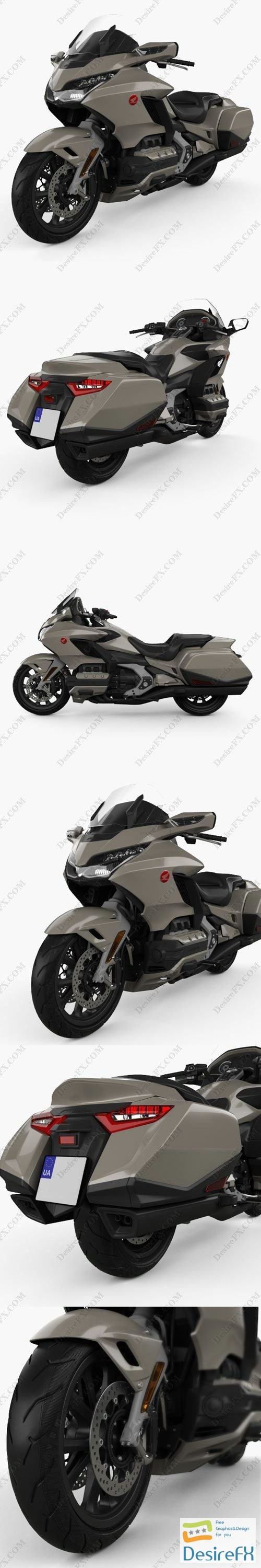 3d-models - Honda GL 1800 Gold Wing 2018 3D Model