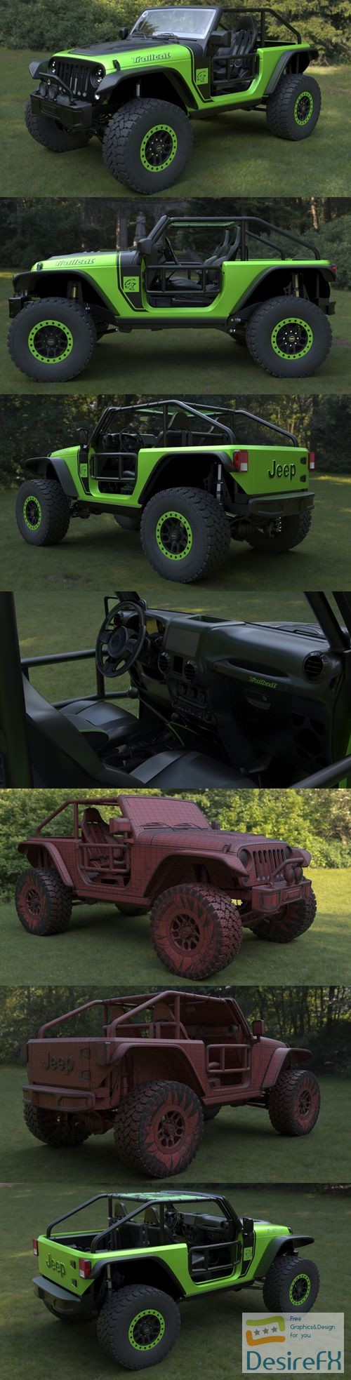 3d-models - Jeep Wrangler trailcat 2017 3D Model