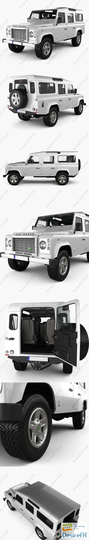 3d-models - Land Rover Defender 110 Station Wagon with HQ interior 2011 3D Model