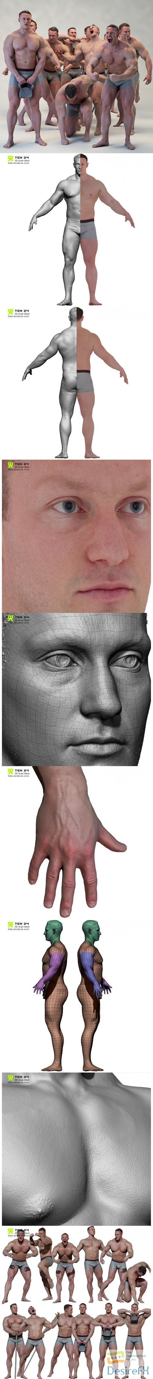 Male 06 Mega Bundle 3D Models