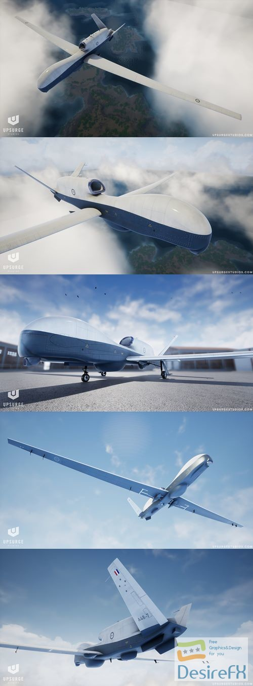 3d-models - MQ-4C Triton UAV 3D Model