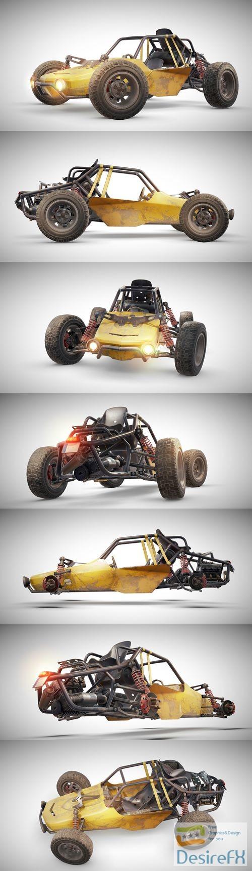 3d-models - PUBG Buggy 3D Model