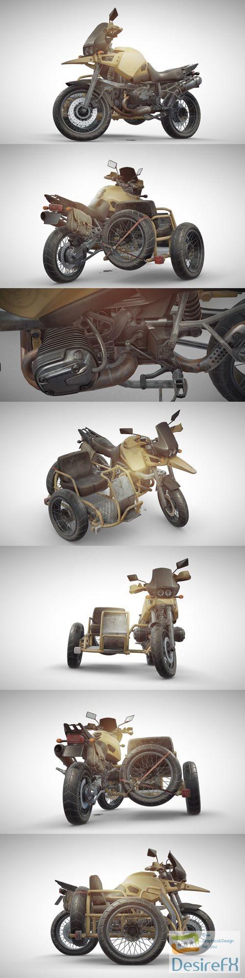 3d-models - PUBG Motorcycle 3D Model