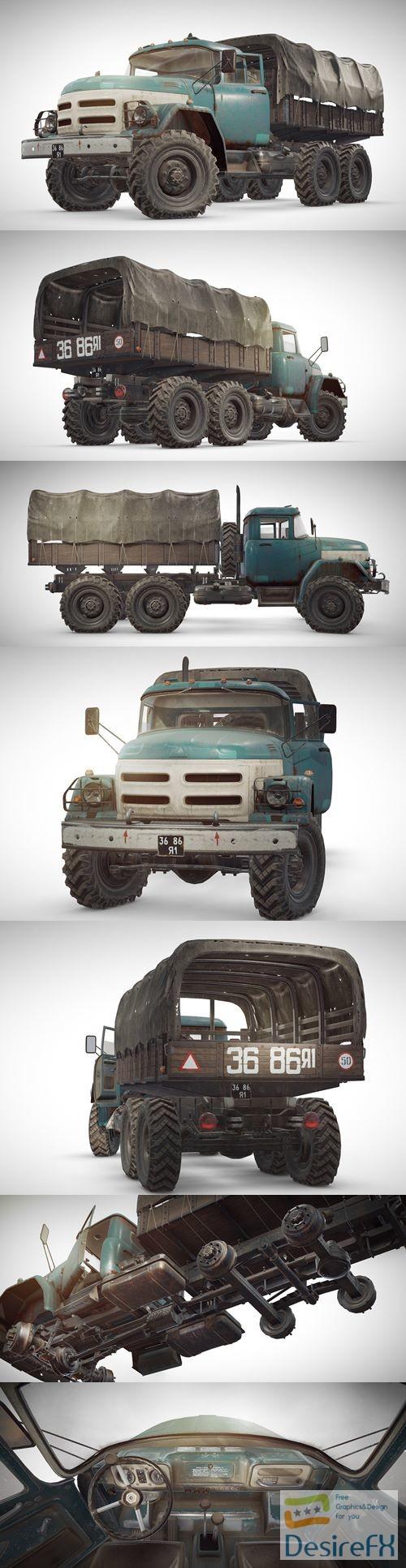 3d-models - PUBG ZIL Truck 3D Model