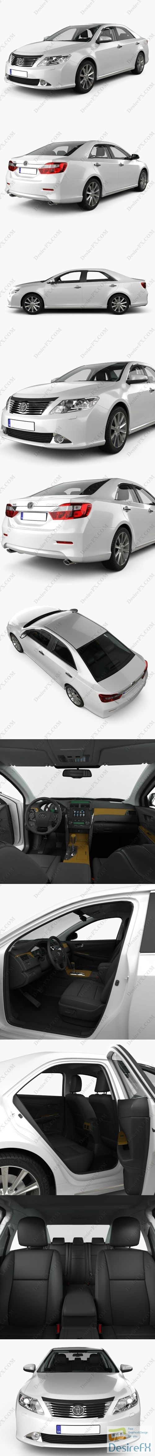 Toyota Camry 2011 with HQ interior 3D Model