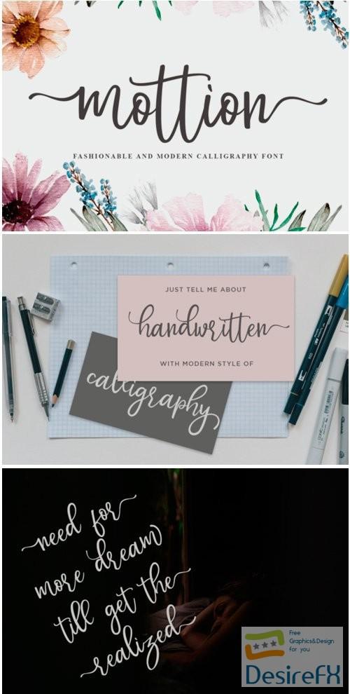 fonts - Mottion Font