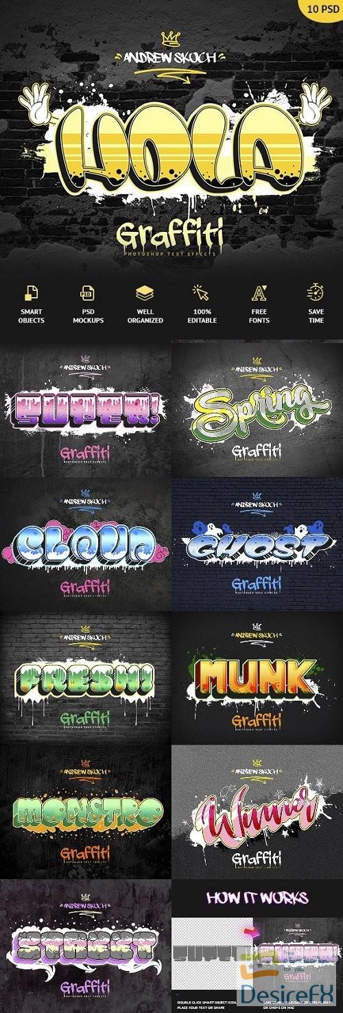 styles-asl - Graffiti Text Effects - 10 PSD - vol 3 24020992