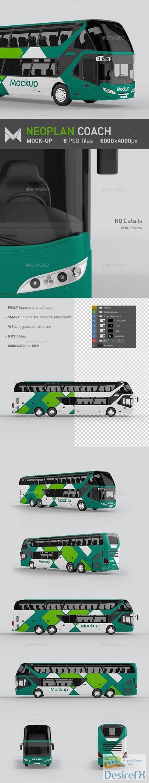 mock-up - Coach Bus Mockup 24257951